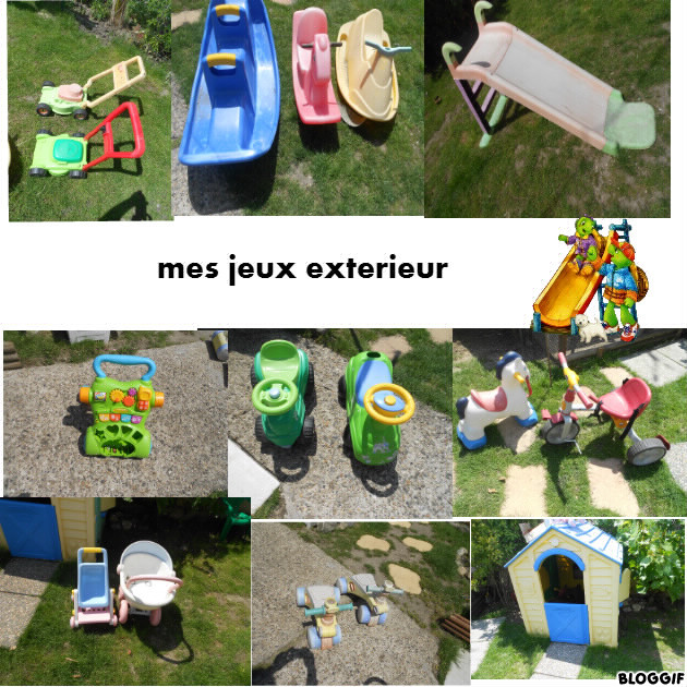 Mes jouets exterieur for Jouet exterieur 1 an